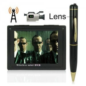 4-channel 3.5 Inch LCD Screen Wireless HD DVR System with Pen Shaped Camera